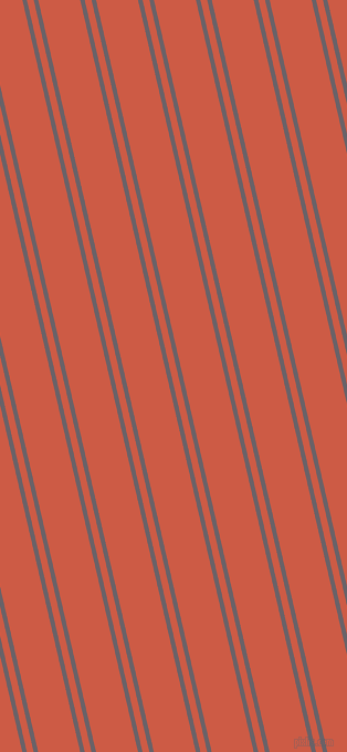 103 degree angle dual striped lines, 4 pixel lines width, 6 and 37 pixel line spacing, Salt Box and Dark Coral dual two line striped seamless tileable