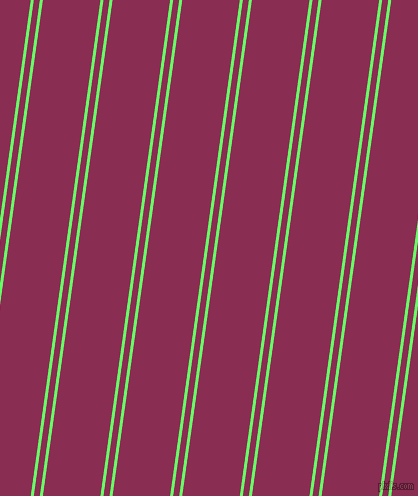 82 degree angle dual stripes line, 3 pixel line width, 6 and 57 pixel line spacing, Screamin