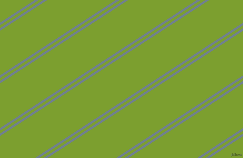 33 degree angles dual striped line, 7 pixel line width, 8 and 122 pixels line spacing, Slate Grey and Sushi dual two line striped seamless tileable