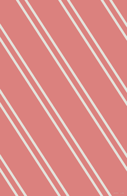 123 degree angle dual stripes lines, 8 pixel lines width, 16 and 86 pixel line spacing, Snow Drift and Sea Pink dual two line striped seamless tileable