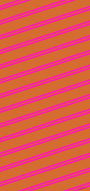 18 degree angle dual stripe lines, 7 pixel lines width, 4 and 39 pixel line spacing, Spicy Pink and Gold Drop dual two line striped seamless tileable