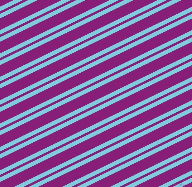 26 degree angles dual striped line, 14 pixel line width, 8 and 36 pixels line spacing, Spray and Dark Purple dual two line striped seamless tileable