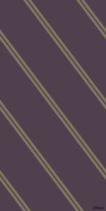 127 degree angles dual stripes line, 8 pixel line width, 4 and 115 pixels line spacing, Stonewall and Purple Taupe dual two line striped seamless tileable