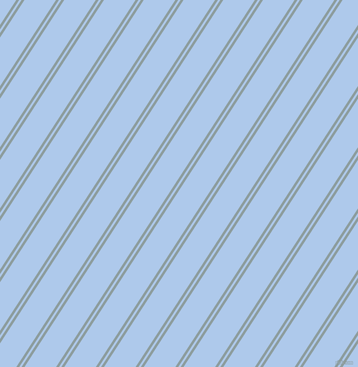 57 degree angle dual striped lines, 5 pixel lines width, 4 and 54 pixel line spacing, Submarine and Tropical Blue dual two line striped seamless tileable