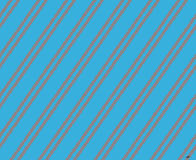 55 degree angles dual striped line, 10 pixel line width, 10 and 45 pixels line spacing, Taupe Grey and Summer Sky dual two line striped seamless tileable
