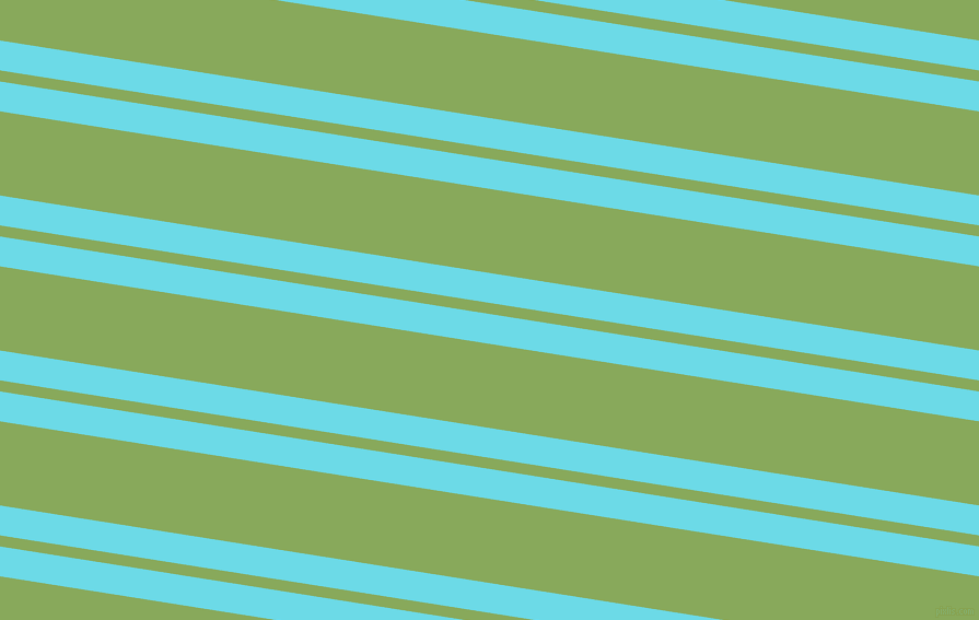 171 degree angles dual striped line, 27 pixel line width, 10 and 76 pixels line spacing, Turquoise Blue and Chelsea Cucumber dual two line striped seamless tileable