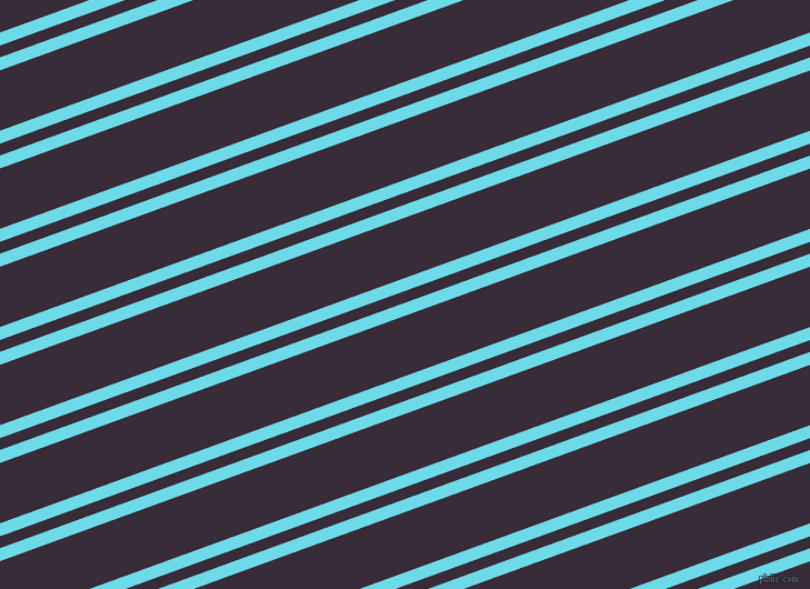 20 degree angle dual stripe line, 11 pixel line width, 10 and 51 pixel line spacing, Turquoise Blue and Valentino dual two line striped seamless tileable