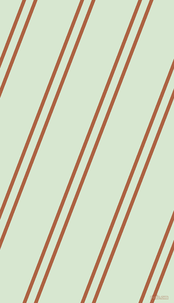69 degree angles dual striped line, 7 pixel line width, 14 and 79 pixels line spacing, Tuscany and Peppermint dual two line striped seamless tileable