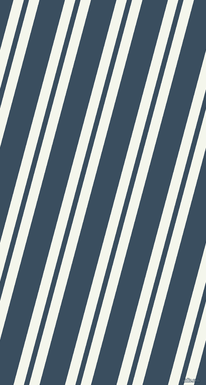 75 degree angles dual stripe line, 20 pixel line width, 10 and 49 pixels line spacing, Twilight Blue and Cello dual two line striped seamless tileable