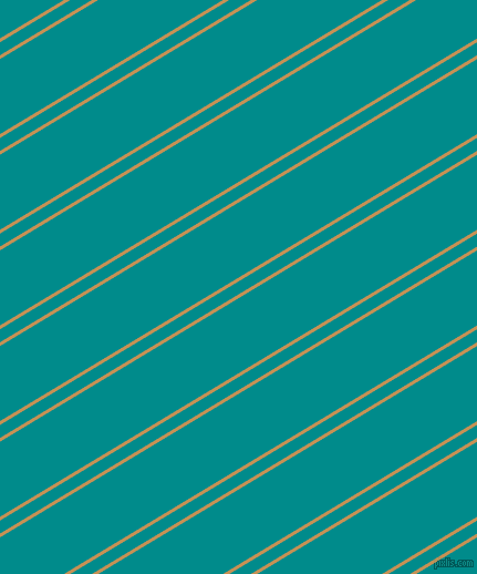 31 degree angle dual stripe lines, 3 pixel lines width, 10 and 58 pixel line spacing, Twine and Dark Cyan dual two line striped seamless tileable