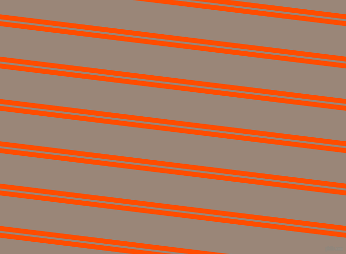 173 degree angle dual stripe lines, 10 pixel lines width, 4 and 62 pixel line spacing, Vermilion and Almond Frost dual two line striped seamless tileable