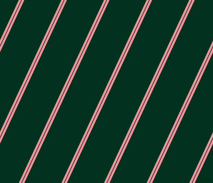 65 degree angles dual striped lines, 7 pixel lines width, 2 and 108 pixels line spacing, Wewak and Dark Green dual two line striped seamless tileable
