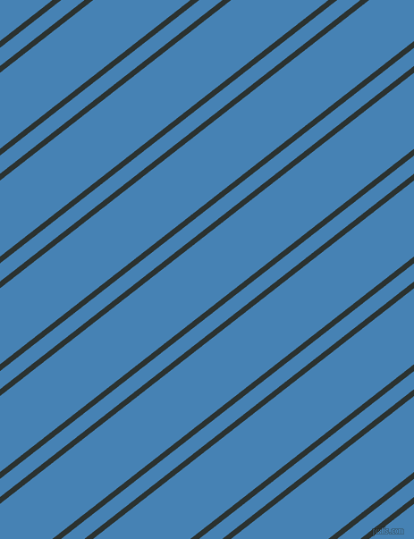 38 degree angle dual stripe line, 6 pixel line width, 16 and 67 pixel line spacing, Woodsmoke and Steel Blue dual two line striped seamless tileable