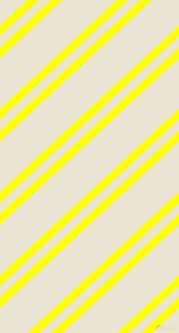 43 degree angles dual stripes line, 16 pixel line width, 16 and 74 pixels line spacing, Yellow and Cararra dual two line striped seamless tileable