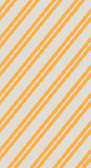51 degree angle dual stripe lines, 11 pixel lines width, 6 and 32 pixel line spacing, Yellow Orange and Sea Fog dual two line striped seamless tileable
