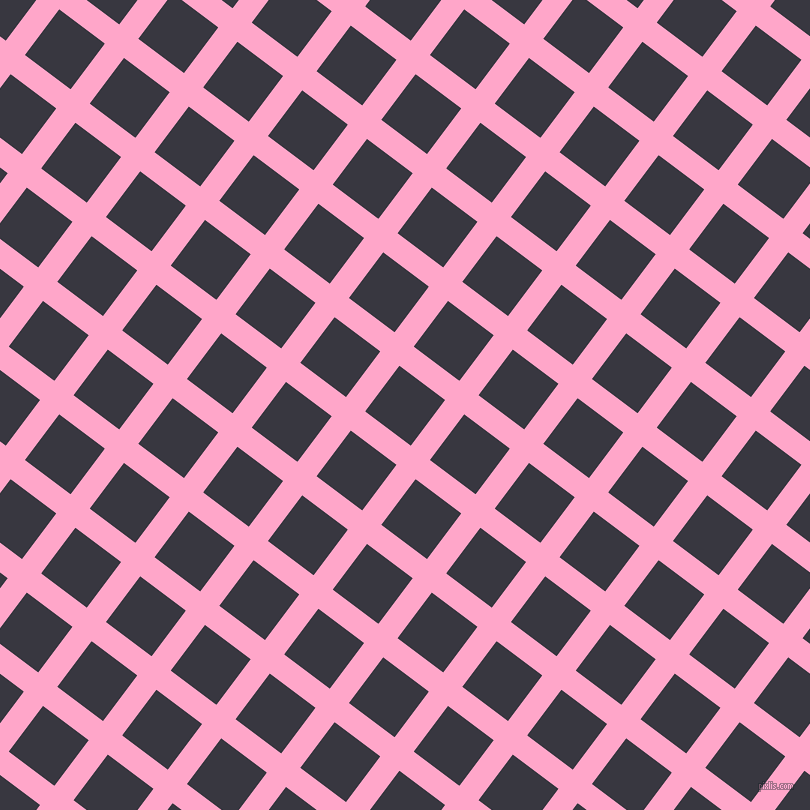 53/143 degree angle diagonal checkered chequered lines, 24 pixel lines width, 57 pixel square size, plaid checkered seamless tileable