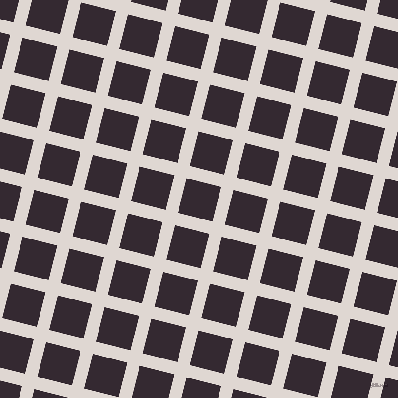 76/166 degree angle diagonal checkered chequered lines, 26 pixel lines width, 73 pixel square size, plaid checkered seamless tileable