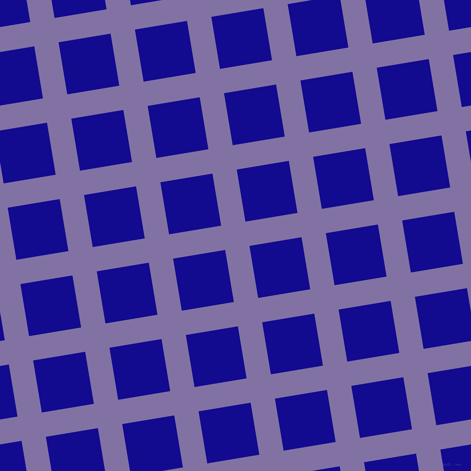 9/99 degree angle diagonal checkered chequered lines, 49 pixel lines width, 105 pixel square size, plaid checkered seamless tileable