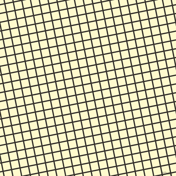11/101 degree angle diagonal checkered chequered lines, 4 pixel lines width, 24 pixel square size, Acadia and Lemon Chiffon plaid checkered seamless tileable