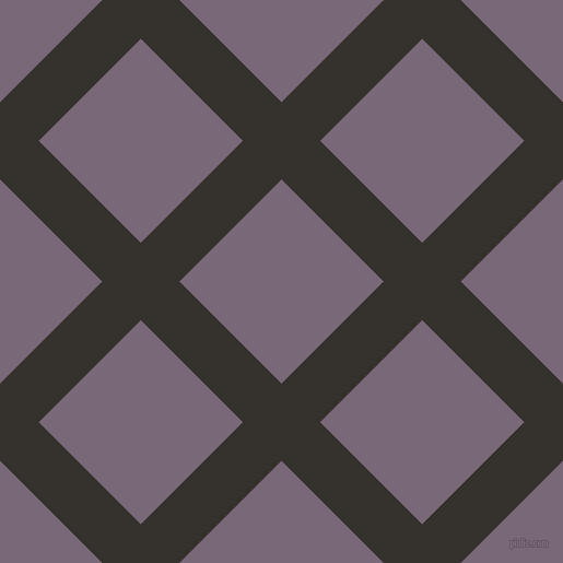 45/135 degree angle diagonal checkered chequered lines, 50 pixel lines width, 132 pixel square size, Acadia and Old Lavender plaid checkered seamless tileable