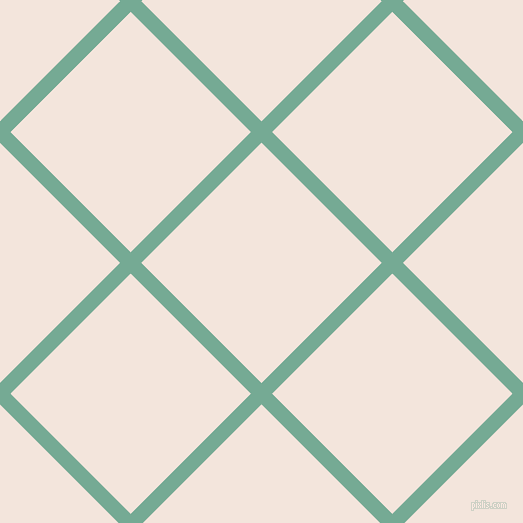 45/135 degree angle diagonal checkered chequered lines, 15 pixel line width, 170 pixel square size, Acapulco and Fair Pink plaid checkered seamless tileable