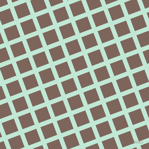 21/111 degree angle diagonal checkered chequered lines, 15 pixel lines width, 44 pixel square size, Aero Blue and Russett plaid checkered seamless tileable