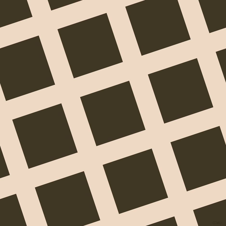 18/108 degree angle diagonal checkered chequered lines, 82 pixel line width, 215 pixel square size, Almond and Mikado plaid checkered seamless tileable