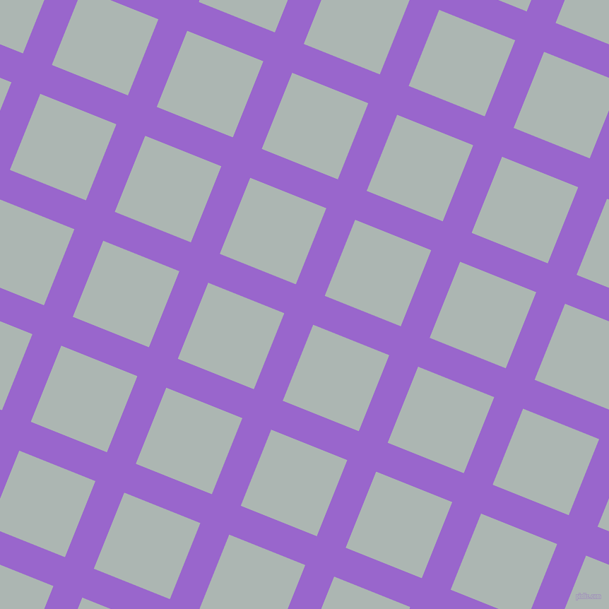 68/158 degree angle diagonal checkered chequered lines, 44 pixel line width, 116 pixel square size, Amethyst and Periglacial Blue plaid checkered seamless tileable