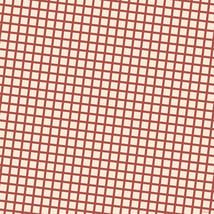 83/173 degree angle diagonal checkered chequered lines, 9 pixel lines width, 28 pixel square size, Apple Blossom and Serenade plaid checkered seamless tileable