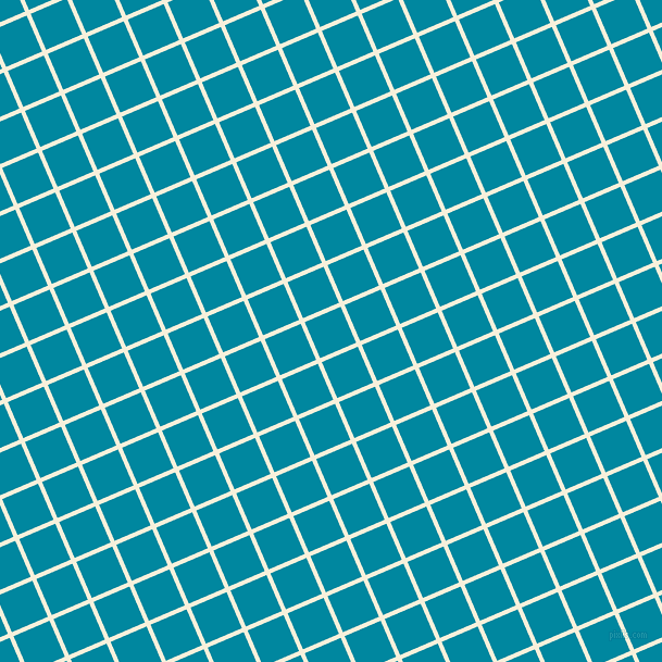 23/113 degree angle diagonal checkered chequered lines, 4 pixel lines width, 36 pixel square size, Apricot White and Eastern Blue plaid checkered seamless tileable