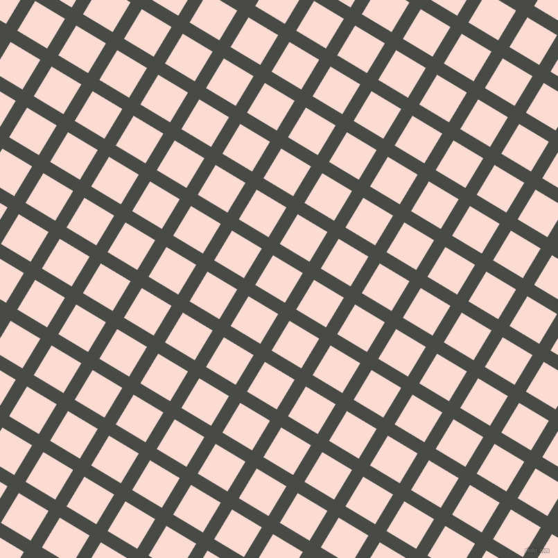 59/149 degree angle diagonal checkered chequered lines, 19 pixel line width, 50 pixel square size, Armadillo and Pippin plaid checkered seamless tileable