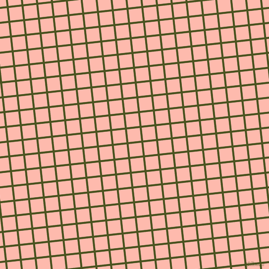 6/96 degree angle diagonal checkered chequered lines, 4 pixel lines width, 26 pixel square size, Army green and Melon plaid checkered seamless tileable