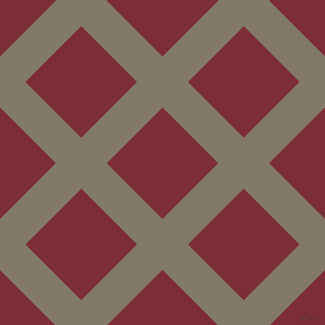45/135 degree angle diagonal checkered chequered lines, 73 pixel line width, 160 pixel square size, Arrowtown and Paprika plaid checkered seamless tileable