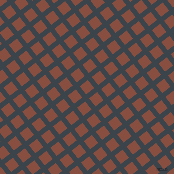 38/128 degree angle diagonal checkered chequered lines, 16 pixel line width, 33 pixel square size, Arsenic and Mule Fawn plaid checkered seamless tileable