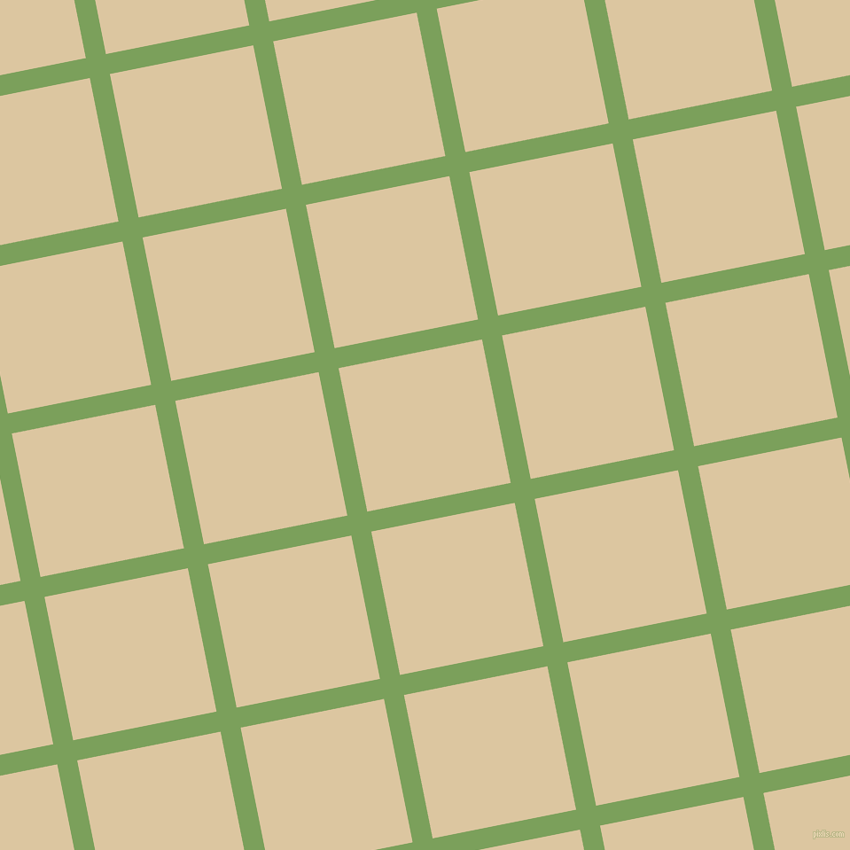 11/101 degree angle diagonal checkered chequered lines, 23 pixel line width, 165 pixel square size, Asparagus and Raffia plaid checkered seamless tileable