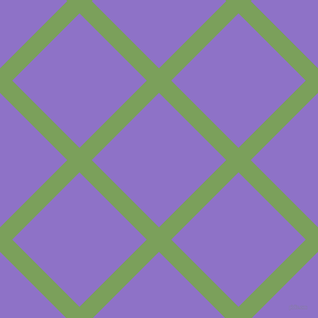 45/135 degree angle diagonal checkered chequered lines, 34 pixel line width, 187 pixel square size, Asparagus and True V plaid checkered seamless tileable
