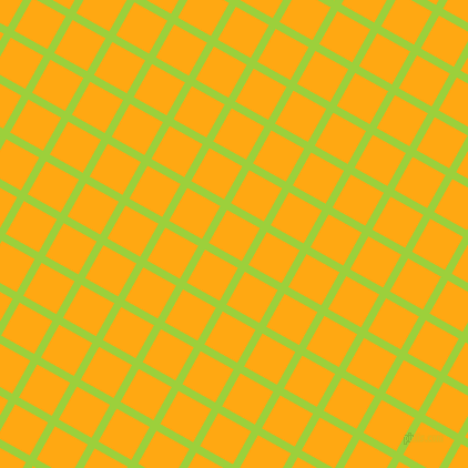 61/151 degree angle diagonal checkered chequered lines, 7 pixel line width, 34 pixel square size, Atlantis and Dark Tangerine plaid checkered seamless tileable