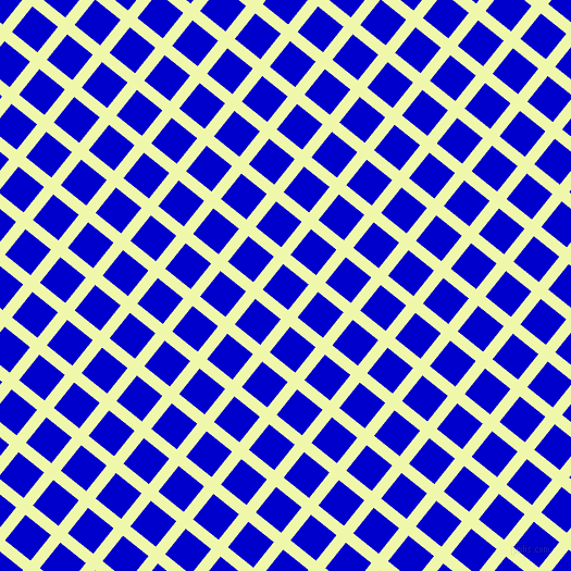 51/141 degree angle diagonal checkered chequered lines, 11 pixel line width, 30 pixel square size, Australian Mint and Medium Blue plaid checkered seamless tileable
