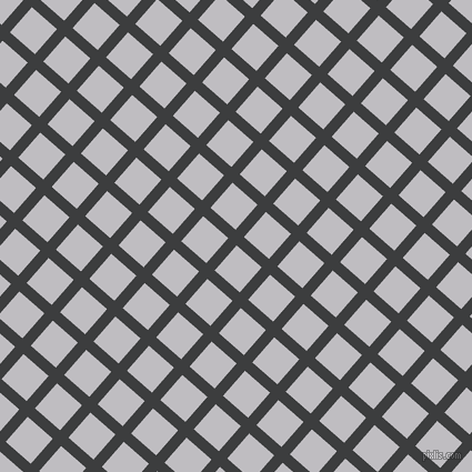49/139 degree angle diagonal checkered chequered lines, 10 pixel lines width, 30 pixel square size, Baltic Sea and French Grey plaid checkered seamless tileable
