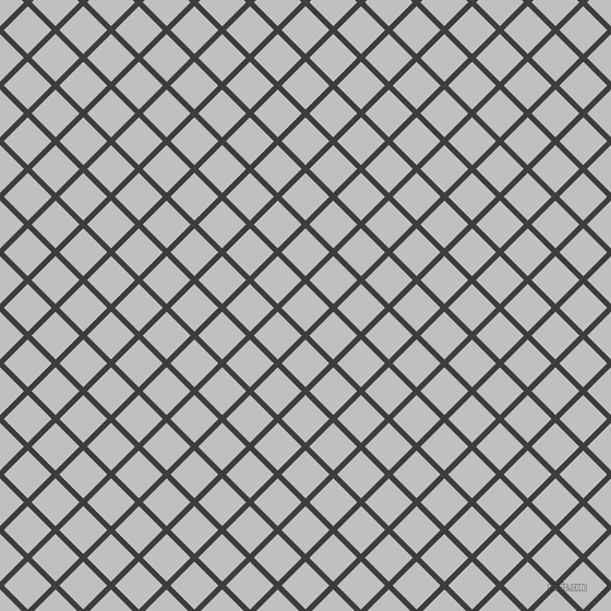 45/135 degree angle diagonal checkered chequered lines, 5 pixel line width, 31 pixel square size, Baltic Sea and Silver plaid checkered seamless tileable
