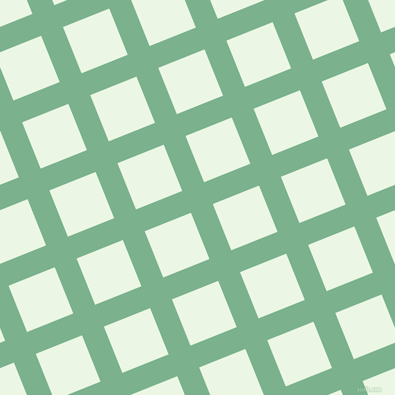 22/112 degree angle diagonal checkered chequered lines, 34 pixel lines width, 72 pixel square size, Bay Leaf and Panache plaid checkered seamless tileable
