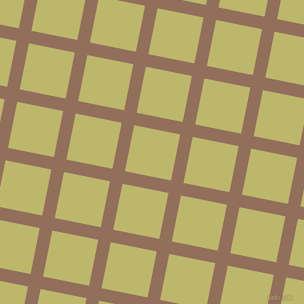 79/169 degree angle diagonal checkered chequered lines, 18 pixel line width, 66 pixel square size, Beaver and Dark Khaki plaid checkered seamless tileable