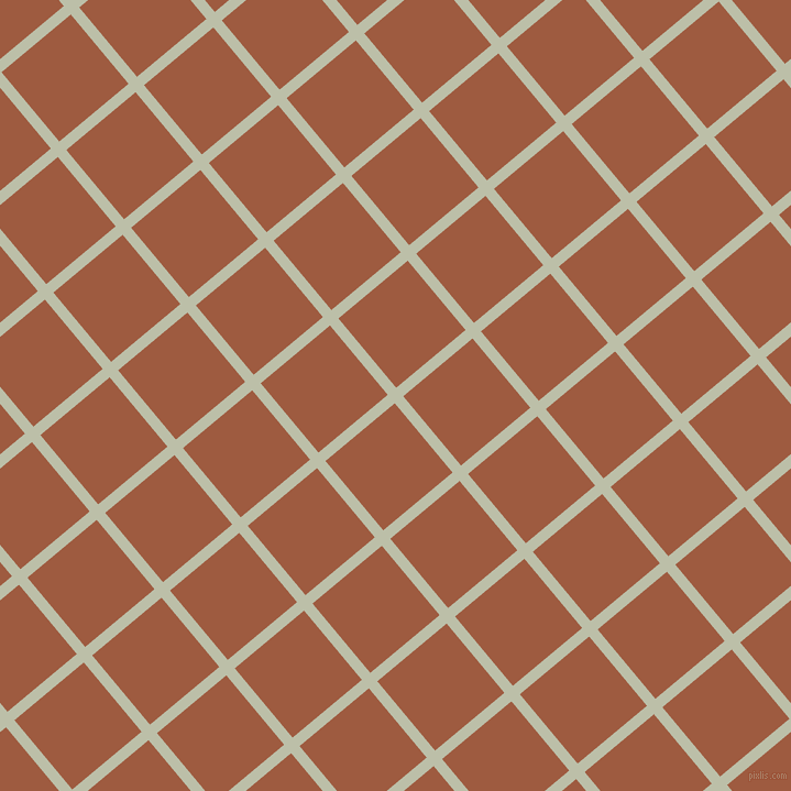 40/130 degree angle diagonal checkered chequered lines, 10 pixel line width, 82 pixel square size, Beryl Green and Sepia plaid checkered seamless tileable