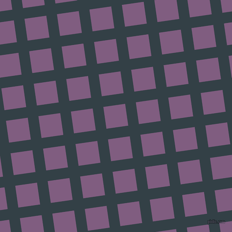 8/98 degree angle diagonal checkered chequered lines, 22 pixel line width, 45 pixel square size, Big Stone and Trendy Pink plaid checkered seamless tileable