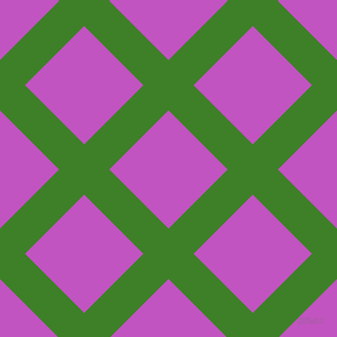 45/135 degree angle diagonal checkered chequered lines, 50 pixel line width, 118 pixel square size, Bilbao and Fuchsia plaid checkered seamless tileable