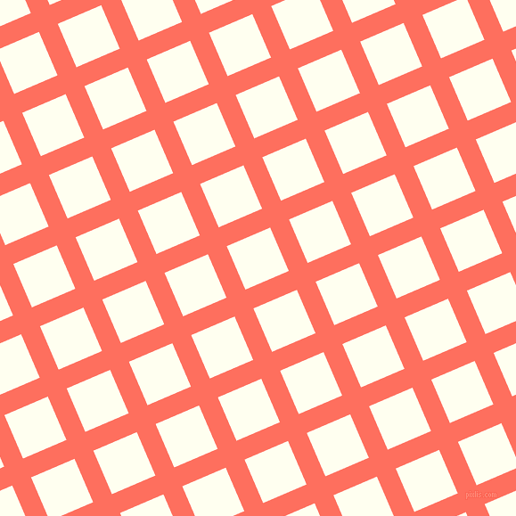 23/113 degree angle diagonal checkered chequered lines, 23 pixel lines width, 53 pixel square size, Bittersweet and Ivory plaid checkered seamless tileable