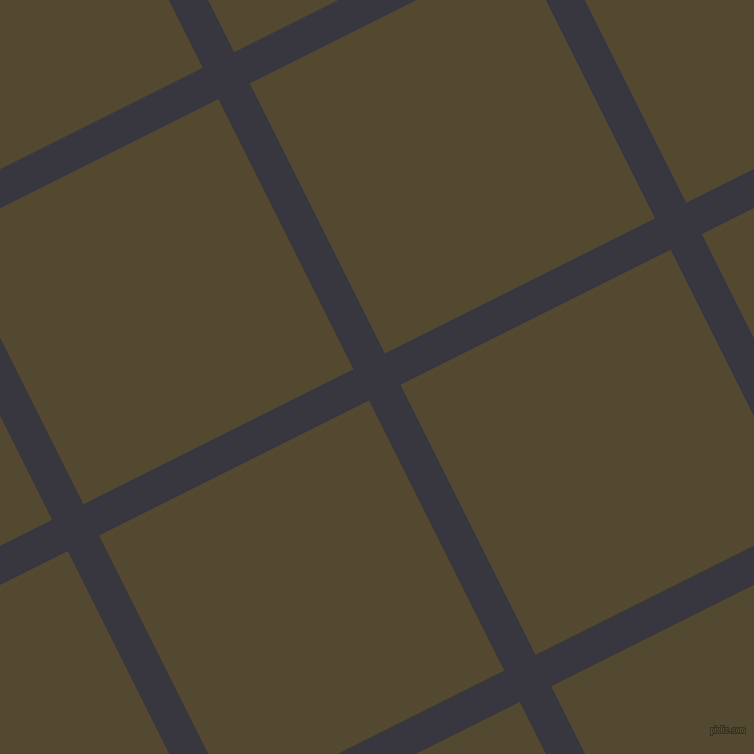 27/117 degree angle diagonal checkered chequered lines, 35 pixel line width, 302 pixel square size, Black Marlin and Punga plaid checkered seamless tileable
