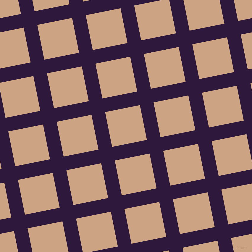 11/101 degree angle diagonal checkered chequered lines, 47 pixel line width, 120 pixel square size, Blackcurrant and Cameo plaid checkered seamless tileable