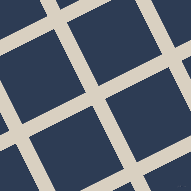 27/117 degree angle diagonal checkered chequered lines, 60 pixel line width, 295 pixel square size, Blanc and Madison plaid checkered seamless tileable