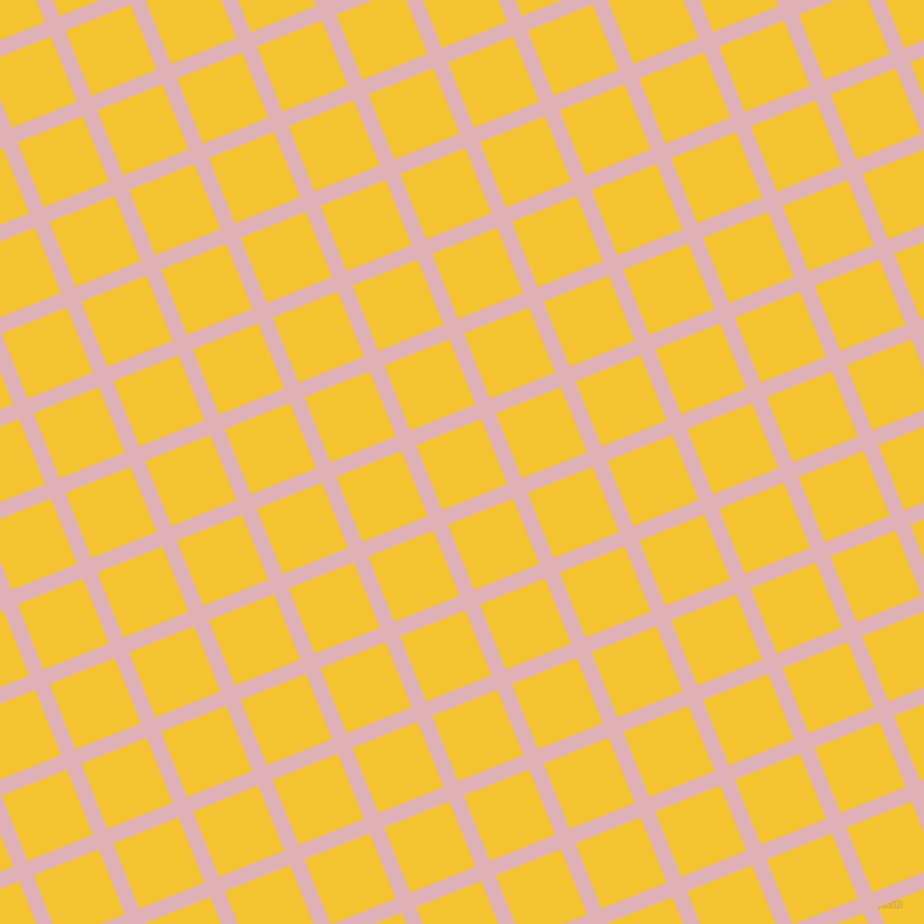 22/112 degree angle diagonal checkered chequered lines, 14 pixel lines width, 63 pixel square size, Blossom and Saffron plaid checkered seamless tileable